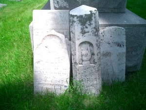 Tonia's grave marker in the Walvoord Cemetery. She died at age 22 from Tuberculosis.