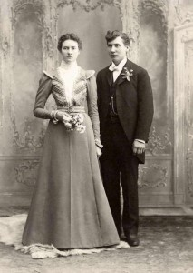 "Wedding Photo of Henry E. Walvoord and Johanna ""Annie"" (Lemmenes) Walvoord in 1899"