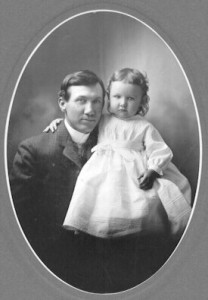 John Garret Walvoord with his daughter Ethel c.1903.