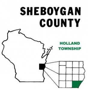 Holland township in Sheboygan. County, Wisconsin
