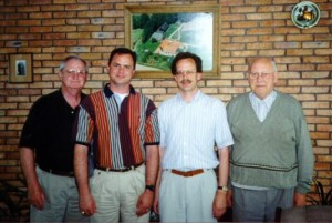 "Left to Right: Americans; David Randall Walvoord (my dad), Scott Anthony Walvoord (me), Dutchmen; Hendrik ""Henk"" Jan Walvoort, and his father Hendrik Jan Johan Walvoort."