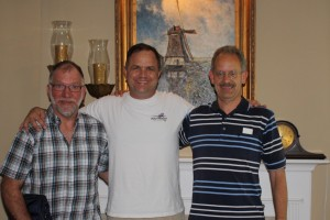 My Dutch cousins visiting Nashville, Tennessee from the Netherlands. From left to right: Henk B. Walvoort, Scott Walvoord, and Henk J. Walvoort.
