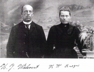 Hendrik Jan Walvoort (1872-1948) and Hendrika Willemina (Rutgers) Walvoort (1877-1951) Photo circa 1906