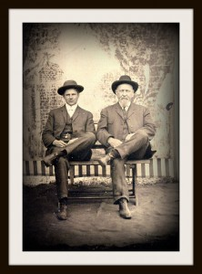 Tintype of Henry Walvoord (right) and an unknown person.