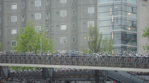 Bicycle Parking Lot at Downtown Amsterdam Train Station