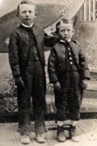 Frederic Walvoord and his younger brother John Garret Walvoord c. 1876