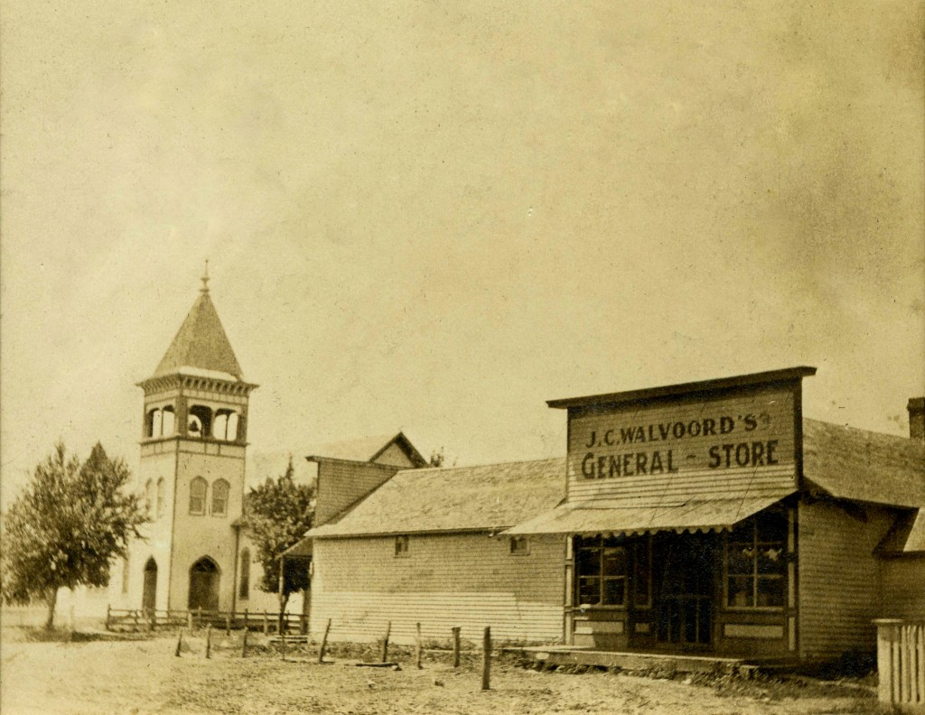 J.C. Walvoord's General Store, Holland Nebraska c. 1910.