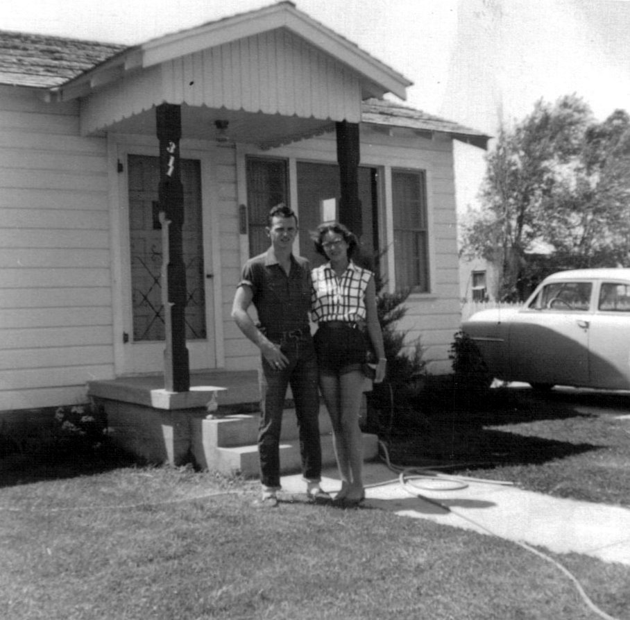 David and Peggy's first house at 311 N. Carolina in Amarillo, Texas