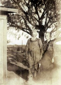 George Washington Henshaw (1852-1924) and Rebecca Callie (Hartline) Henshaw (1865-1946). They were married in Bell County, Texas in 1880 when Rebecca was 15-years-old.